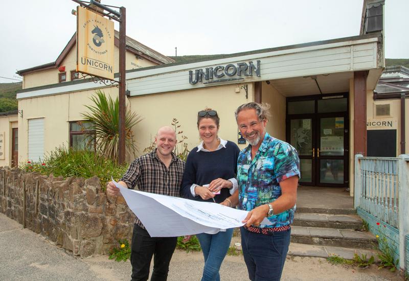 Gareth Crosby, Pru Clarke and Taskin Muzaffer, The Unicorn On The Beach, The Johnson Collective
