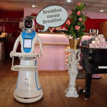 The Tea Terrace robotic waitress 1