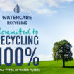 Water filter recycling
