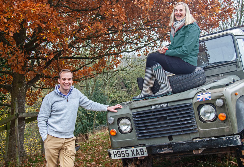 Joe & Keeley Evans, owners, Crumplebury