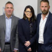 Tim Calvert, national account manager, Lauren Hunter, national account manager and Steven Chadwick, northern area sales manager