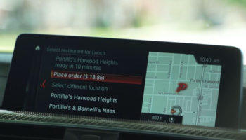 Olo BMW in-car food ordering