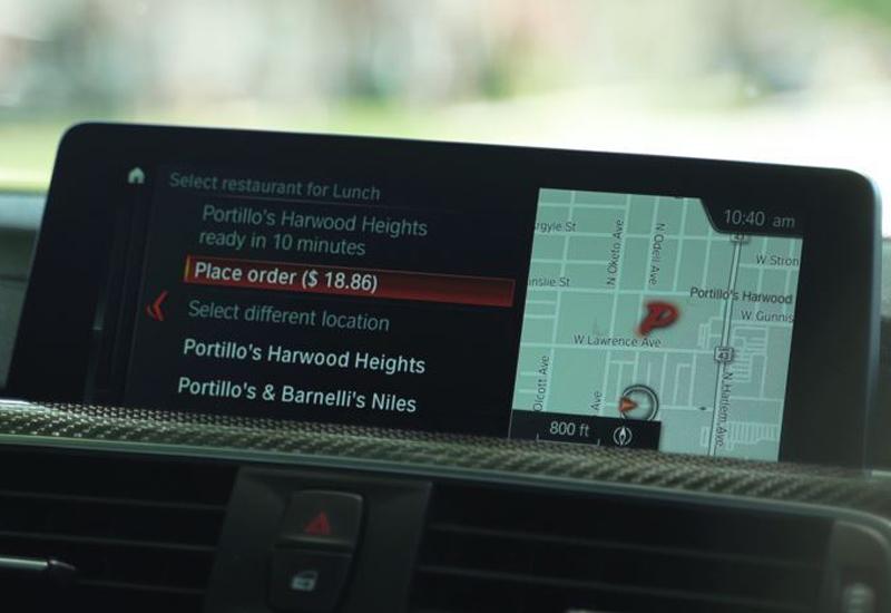 Olo BMW in-car food ordering
