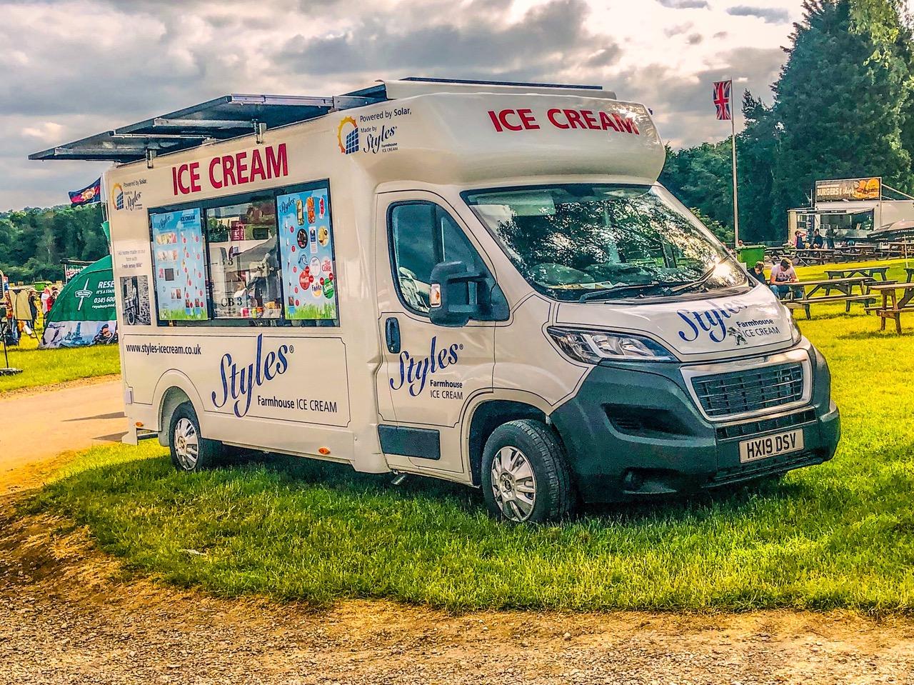Styles ice cream van