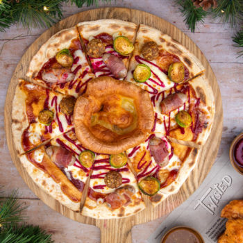 Twisted Slice Christmas dinner pizza