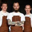 Gavin Allan, head chef, and team, The Old Vicarage
