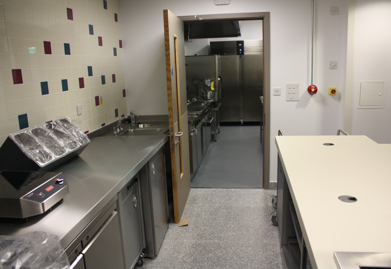 St Bart's hospital kitchen