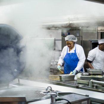 Lambeth Hospital kitchen