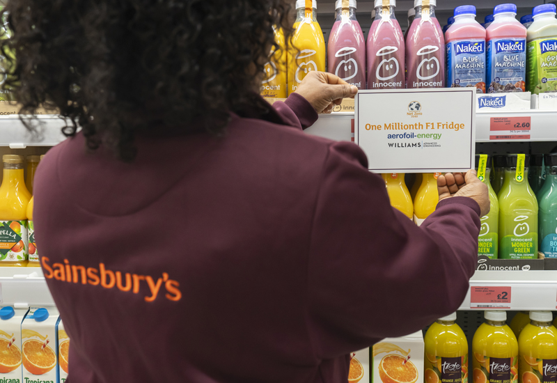 Sainsbury's Aerofoil fridge 3