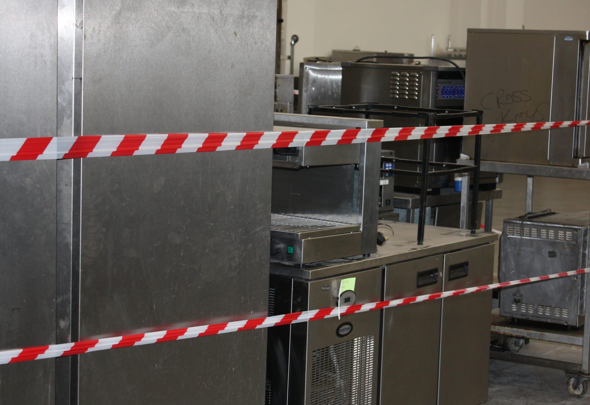 Catering equipment needing repair