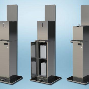 Falcon hand sanitiser stations
