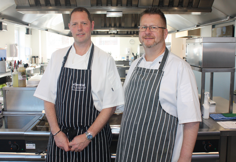 Chris Webb, catering operations manager & Andy Briggs, menu development manager