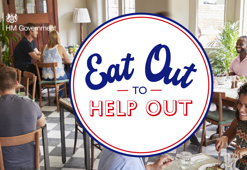 Eat Out to Help Out logo cafe