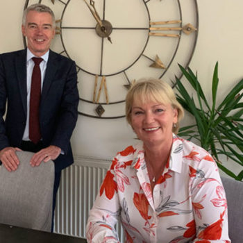 Noel Mahony, co-chief executive of BaxterStorey and director at WSH & Wendy Bartlett, executive chairman, Bartlett Mitchell