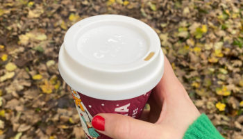 Anti-bacterial reusable cup lid