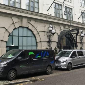 Filta Group vans at Malmaison Newcastle