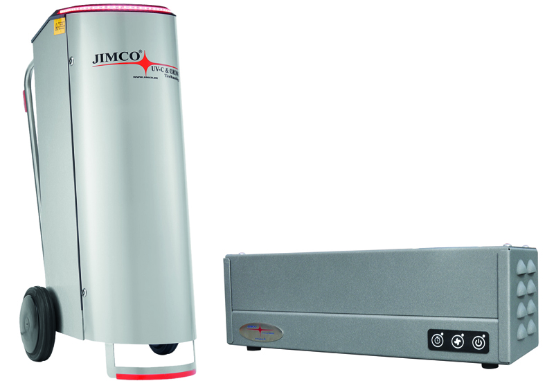 Jimco MAC500 air purifier and FLO-D mini disinfection system