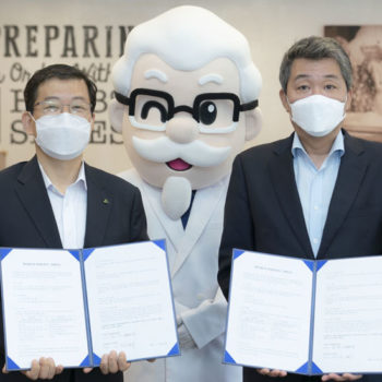 KFC and Hyundai Robotics memorandum of understanding agreement
