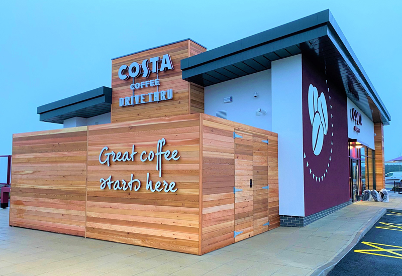 Costa Coffee Drive Thru, Durham 1