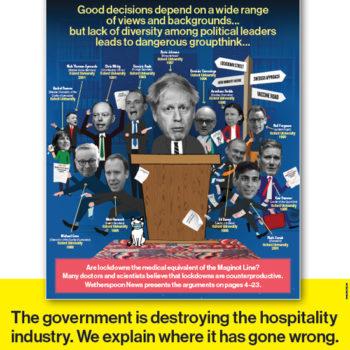 JD Wetherspoon anti-lockdown poster