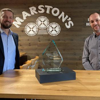 Scott Jones, sales and key account director, True Refrigeration & Andy Kershaw, head of property, Marston's