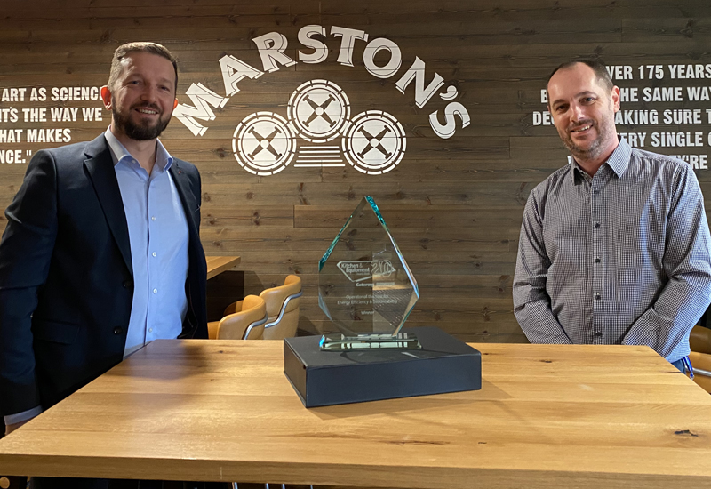 Scott Jones, sales and key account director, True Refrigeration & Andy Kershaw, head of property, Marston's