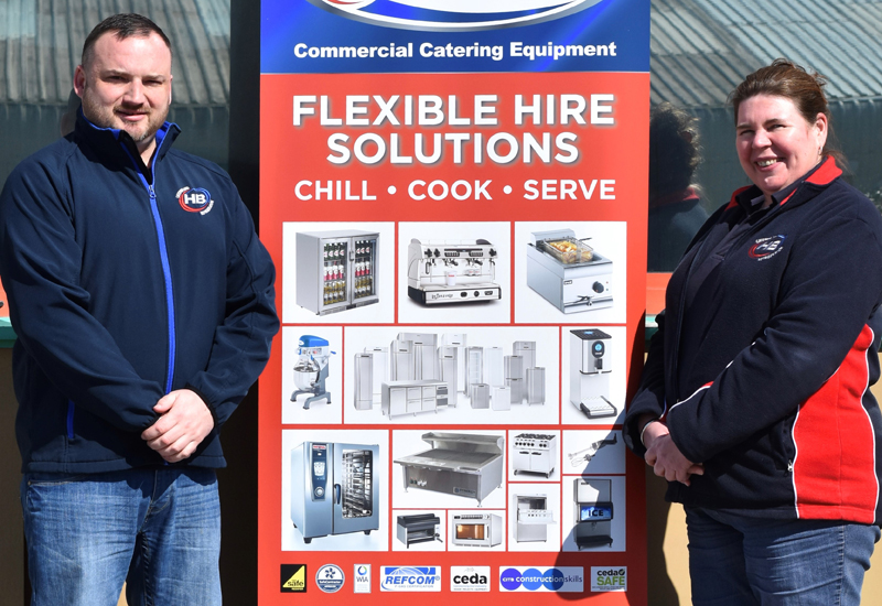 Kyle James, compliance and installation manager and Jacquie Jenkins, managing director