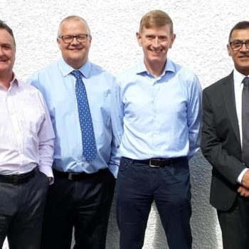 Sinclair Campbell, director, David Hair, works director, William Moffat, managing director and Kal Kalsi, senior sales manager