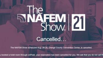 NAFEM Show cancelled