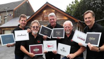Angus Scott, James Hunt, John Chadwick, Giles Darby and David Surdeau