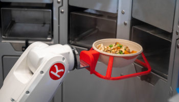Robot arm with bowl