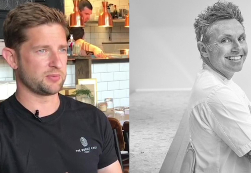 Kris Hall, founder and Adam Simmonds, ambassador, The Burnt Chef Project